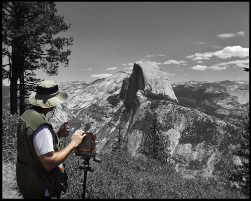 Rick Zimmer Photographing Half Dome